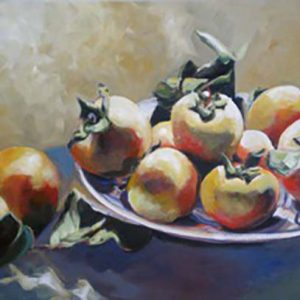 Persimmons on Grey