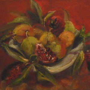 Small Red Still Life with Pomegranate