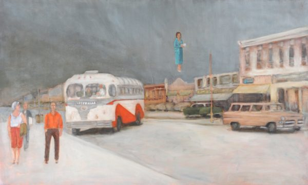 Levitas: Mary's Parcel, Greyline Bus, Banff Ave.