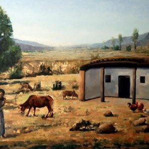 Fetsum Teclemariam_Hidmo_ oil on canvas 48x72