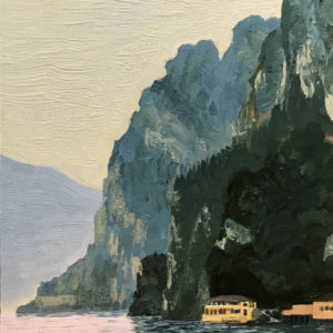 Barbara Hirst_ Study for Evening Calm, Lake Garda 10 x 8