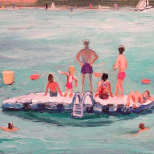 Barbara Hirst_Swimmers, Riva del Garda 5 x 7