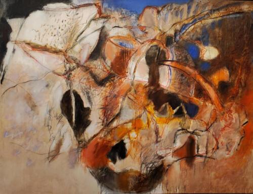 Les Graff White Sentinel Ravine 8000 oil on canvas 50x64